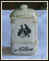 antique czech porcelain kitchen canister set black white victorian