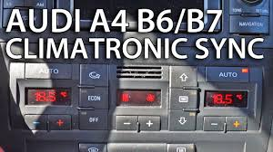 how to sync zones in climatronic audi a4 b6 b7 tips u0026 tricks