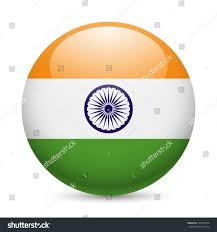 Flag Og India Flag India Round Glossy Icon Button Stock Vector 198125954