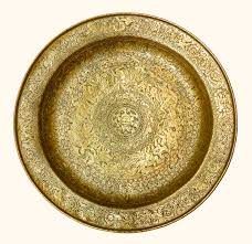 engraved dishes a wonderful brass venetian plate cesati works of antique
