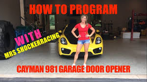Syncing Garage Door Opener With Car by Porsche Cayman Garage Door Opener Programming Part 2 Youtube