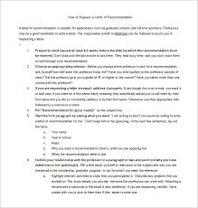 School No Letter Of Recommendation Letters Of Recommendation 25 Free Word Excel Pdf Format