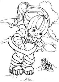 cute bear watering flower coloring flower coloring pages