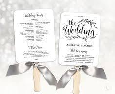 wedding program printing printable wedding program template rustic wedding fan program