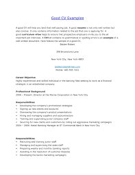 A Good Example Of A Resume by Examples Good Resumes