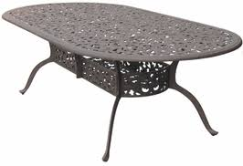 oval aluminum patio table dl80 xl darlee 48 x 96 inch oval dining patio table in cast aluminum