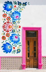 best 25 flower mural ideas on pinterest wall mural murals and flower mural with pink door in aguascalientes mexico
