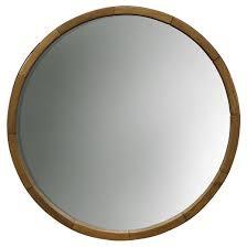 circular wood wall decorative wall mirror wood barrel frame threshold target