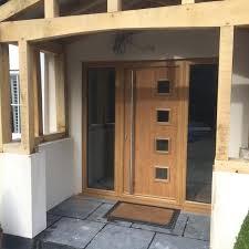 Green Upvc Front Doors by Front Doors Exterior Front Door Solid Wood Howdens Linear Oak
