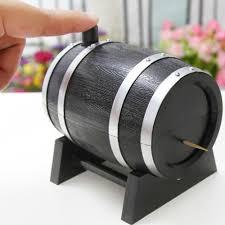 Novelty Toothpick Dispenser Wine Barrel Plastic Automatic Toothpick Dispenser Wine Time Club