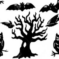 halloween window silhouette templates divascuisine com