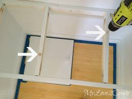 Bench Built Into Wall Hall Closet Makeover My Love 2 Create