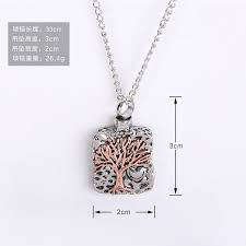 tree cremation fashion alloy tree of cremation necklace with chain