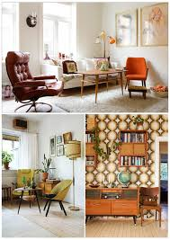 Midcentury Modern Finds - a mix of mid century modern pieces with eclectic flea market finds