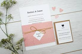 handmade wedding invitations handmade wedding invitations sided paper pink heart a5