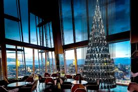 aqua shard celebrates christmas with a sculptural tree by lee