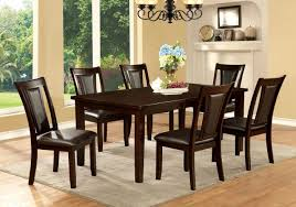 cherry dining room set furniture of america cm3910t cm3984dk sc emmons i 7 pieces