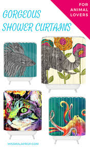 Gorgeous Shower Curtain by 10 Cool Shower Curtains For Animal Lovers