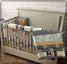 crib bedding set nursery custom noah woodland baby bedding