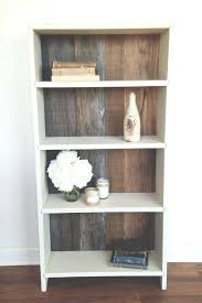 Solid Wood Bookcase Bookcase White Wood Shelves With Brackets White Solid Wood