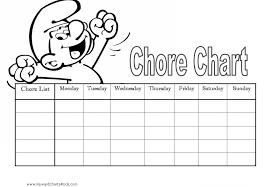 kids chore chart template allowance chore chart allowance chore