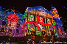 christmas decorations in melbourne night walk the nomadic