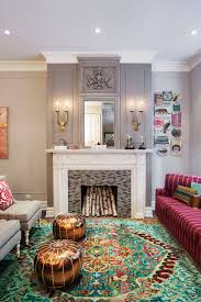 pillar plate with gray wall paneling living room transitional and