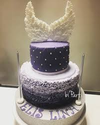 angel cake baby shower cake purple cake baby cake welcome