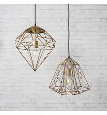 Wire Pendant Light Gold Wire Pendant Light