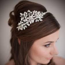 wedding headbands amelie swarovski wedding headband chez bec