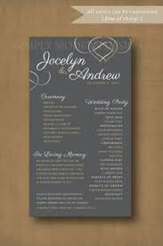 pretty proclamation program wedding planner