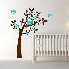 owl vinyl tree wall sticker decals mural wallpaper children