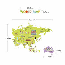 World Map Beijing China by Wall Decal Giant World Map For Kids Amazon Co Uk Kitchen U0026 Home
