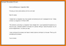 6 resignation cancellation letter forklift resume