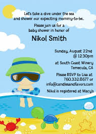 the sea baby shower invitations baby boy baby shower invitations candles and favors