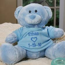 engraved teddy bears personalized baby boy blue teddy personalized teddy bears