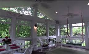 screened porch addition with windows to keep out pollen