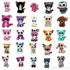ty beanie boos plush toy doll 17cm big eyes stuffed animals doll