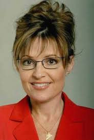 sarah palin hairstyle governor sarah palin with casual updo hairstyle with long bang