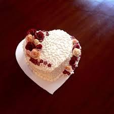 How To Decorate Heart Shaped Cake Heart Shaped Cake I Used The 6