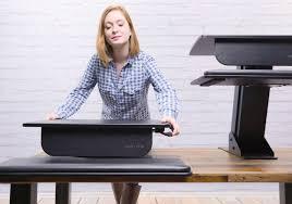 Sitting Standing Desk by Uplift Standing Desk Converter Gadget Flow