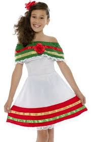 Halloween Costumes Mexican Smiffys Kids Mexican Senorita Dress Girls Halloween Costume