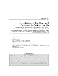 investigation of gravitaxis and phototaxis in euglena gracilis