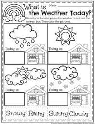 weather unit for preschool and kindergarten a page from the unit