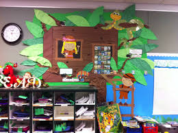magic tree house bulletin board in jungle theme classroom tia the