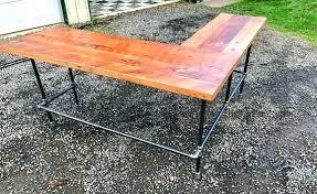 rustic l shaped desk rustic l shaped desk wood l shaped desk black iron pipe reclaimed
