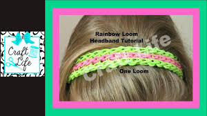 hairstyles with haedband accessories video craft life rainbow loom headband full triple single bracelet