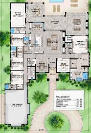 Floor Plans With Porte Cochere Coastal Contemporary Florida Mediterranean House Plan 75967 Level