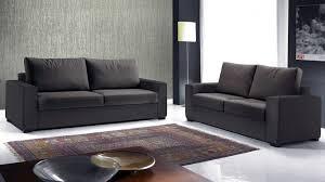 canapé 2 places en tissu design 3 places tissu