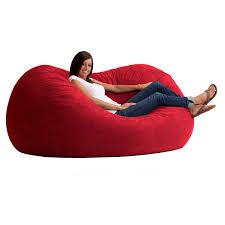 fuf 6 ft xl comfort suede bean bag sofa hayneedle